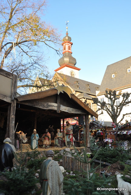 Christmas Market Magic...Nativity, Rudesheim Germany