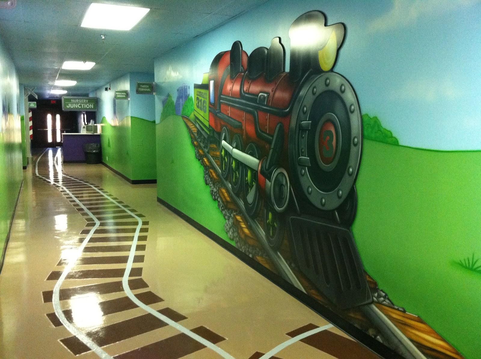 Fun Train Theme For Aldersgate Umc College Station Tx