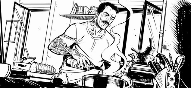 Chef RUBIO -- Food Fighter Fumetto DMAX UNTI E BISUNTI