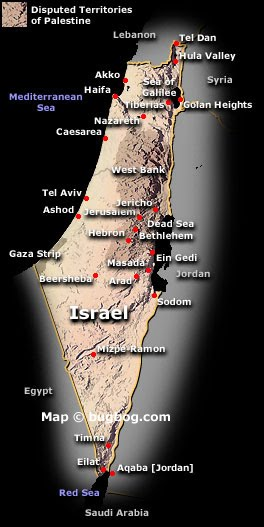 Map Of Israel And Palestine. Palestinian government.