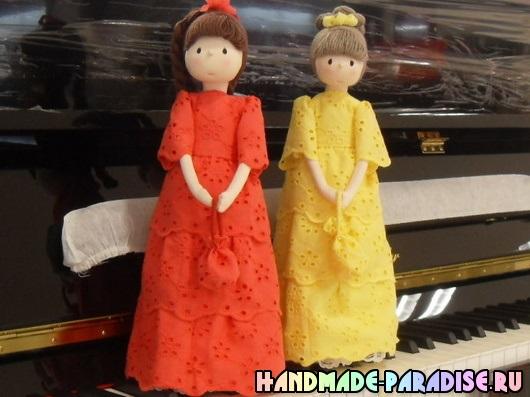 Текстильные куклы дамы. Фото мастер-класс