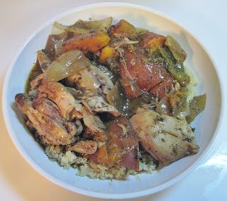 Crock pot Jamaican jerk chicken & vegetables