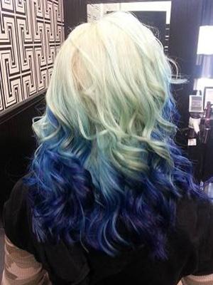 Peinados mechas colores
