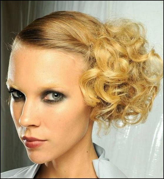 My Hair Style: Top 9 Easy Stylish Updos For Curly Hair
