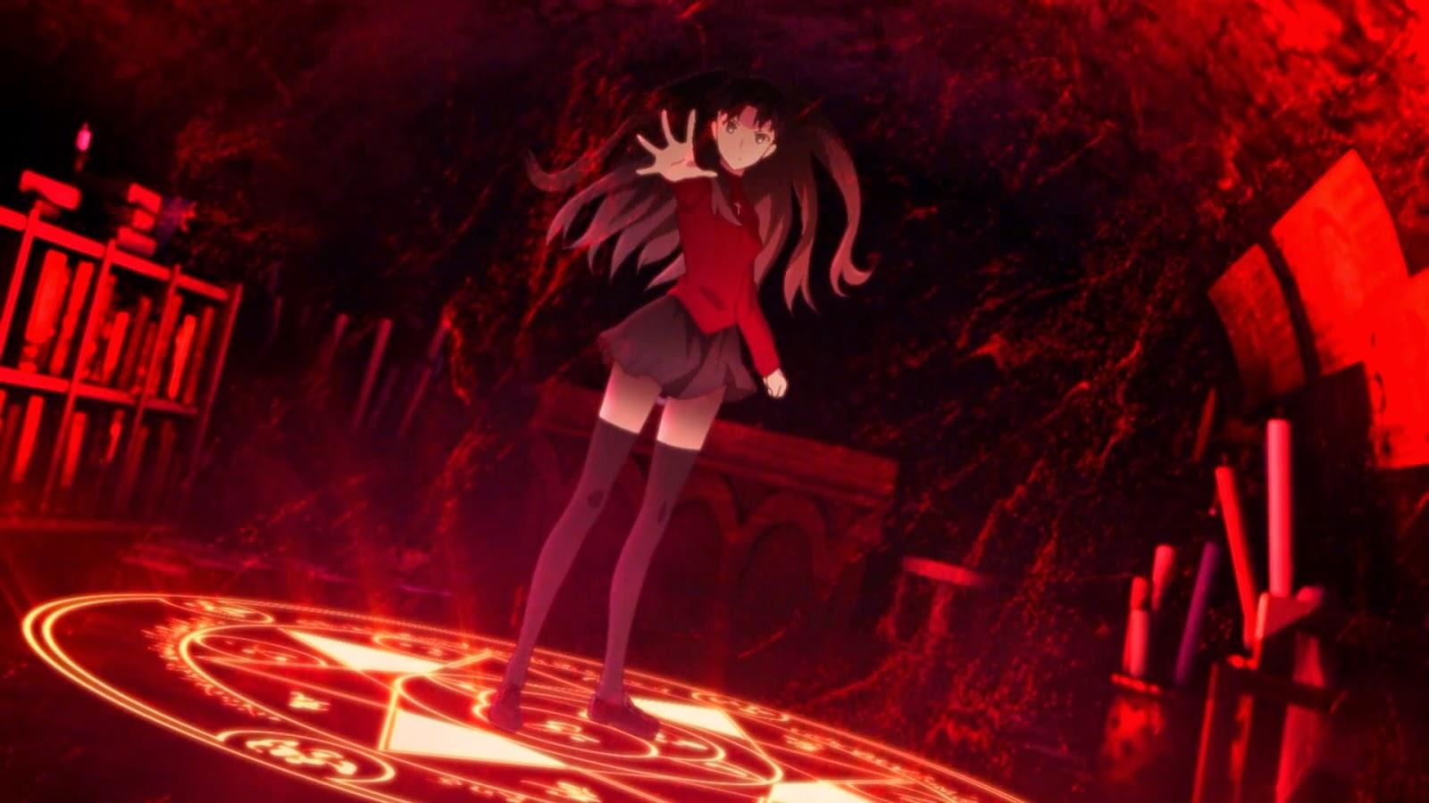 Rin Tohsaka Sedang Melakukan Pemanggilan Servant