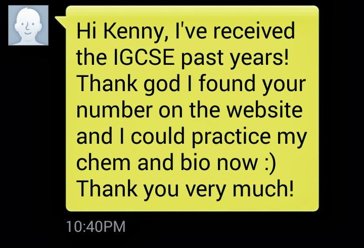 IGCSE Past Year Papers - mr sai mun