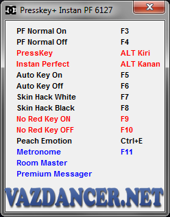 Cheat Presskey, Instan Perfect + No Red Key AyoDance V6127