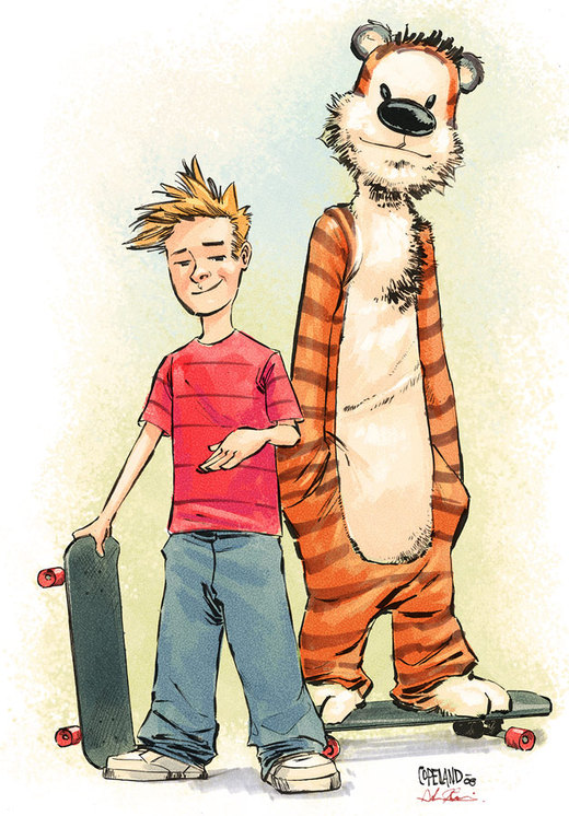 Calvin and Hobbes by jusdog por JohnRauch