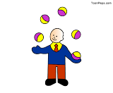 Free Printable Juggler jigsaw puzzle game for kids