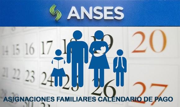 ... ASIGNACIONES A TRAVÉS DE ANSES - SUAF. CALENDARIO DE PAGOS ENERO 2015