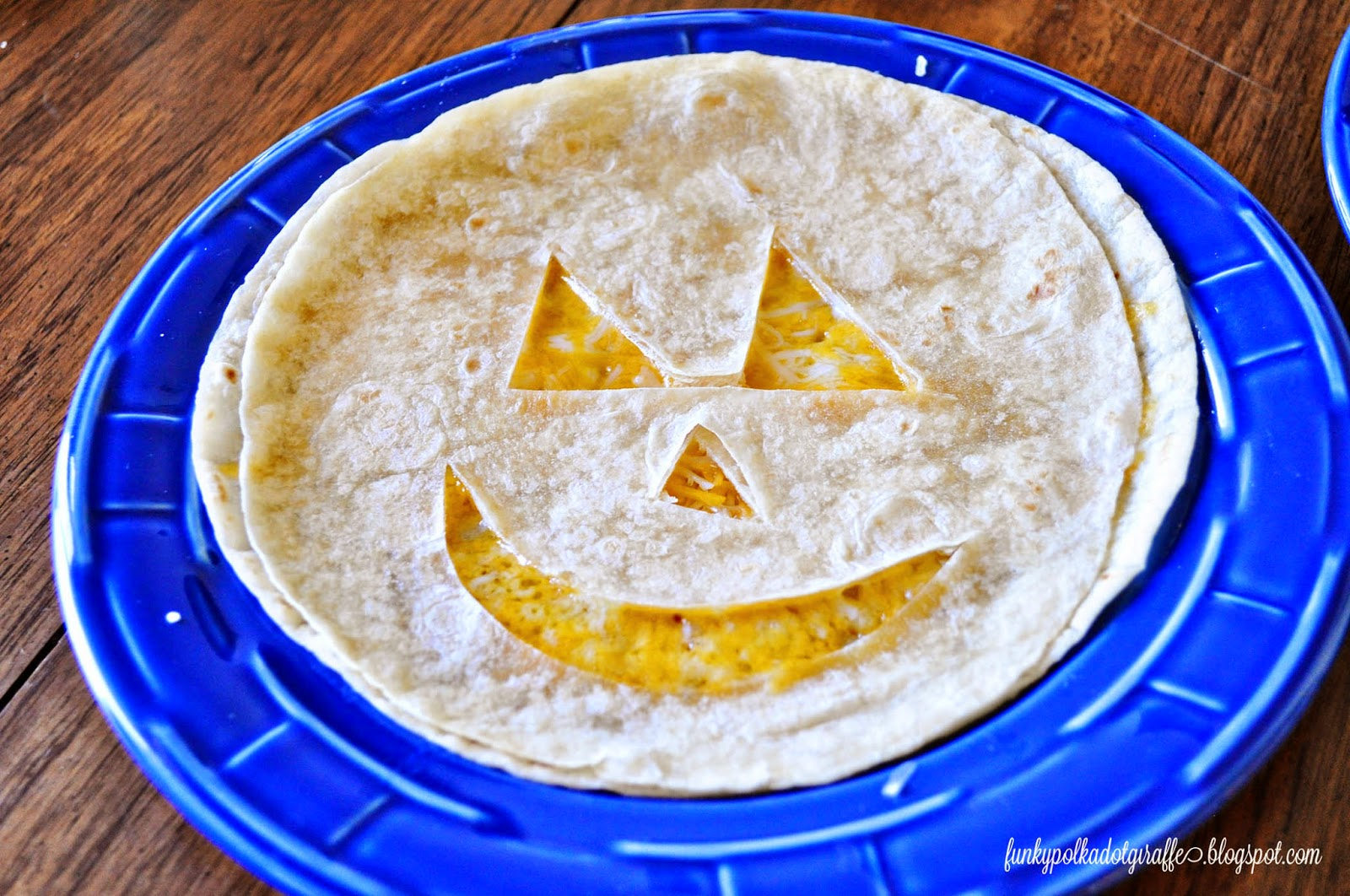 pumpkin quesadilla halloween lunch