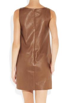 Ralph Lauren Black Label, Oriana leather dress