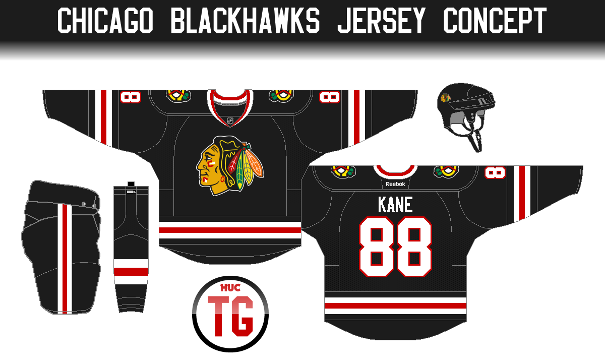 Another black Hawks jersey. (Get it ) Ha anyways this one has grown on me  as well. It s clean 9cb2ff5e626
