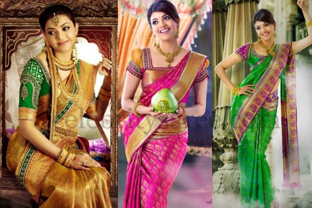Kajal Agarwal's Silk Saree Ads