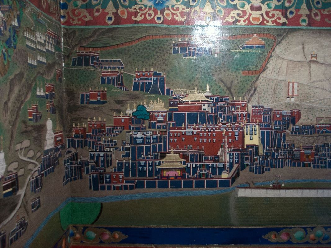 Sakya resource guide news page sakya town cityscape murals for Cityscape mural