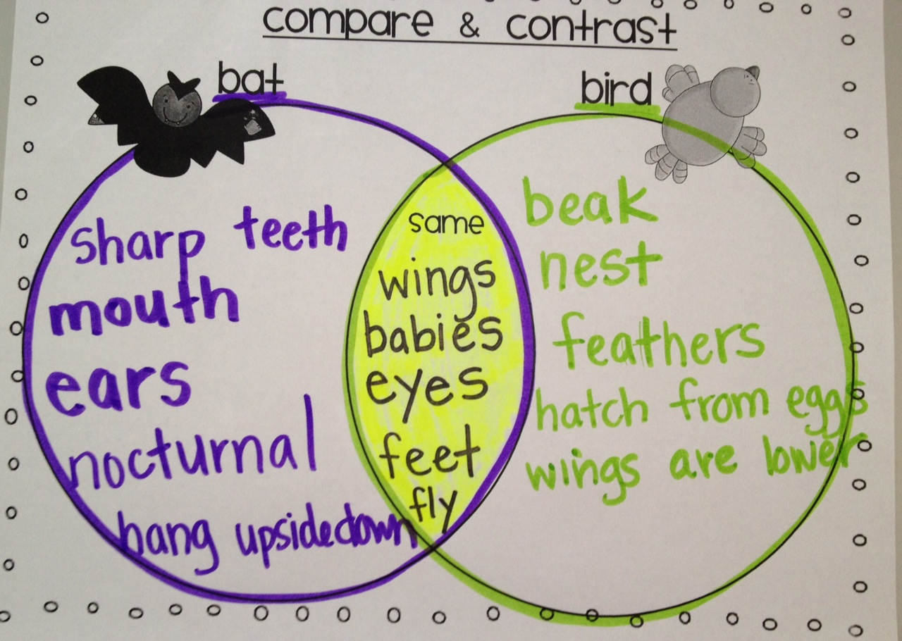 compare and contrast notes