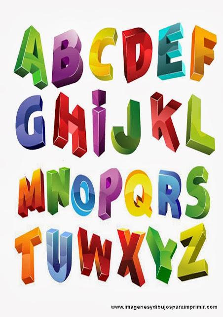 letras en 3D para imprimir