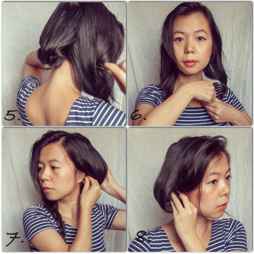 hair tutorial faux bob