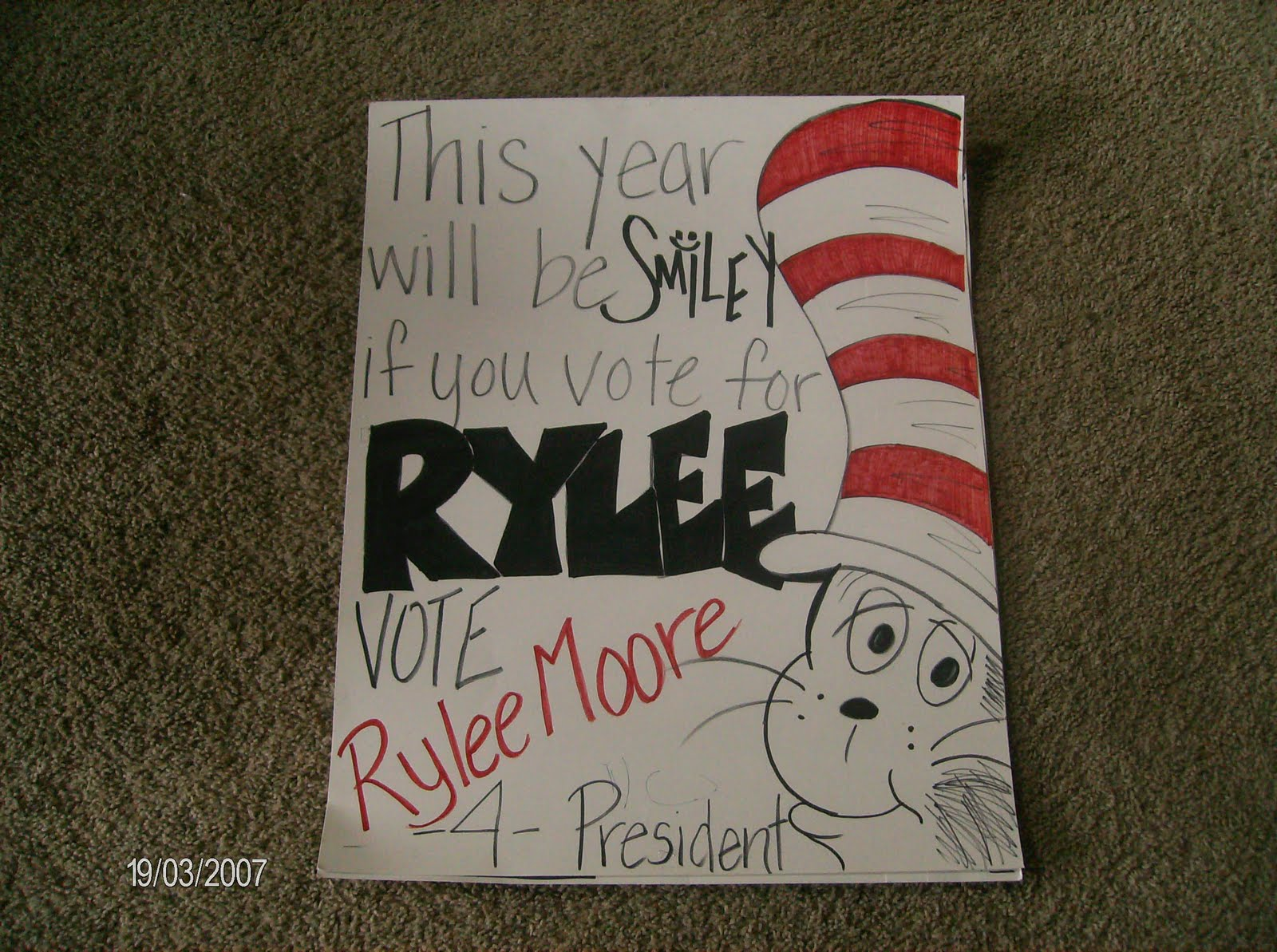 Rylee Decided She Was Not Going Run For Student Council This Year