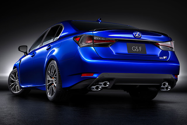 2016 Next Gen Lexus GS F performance back view