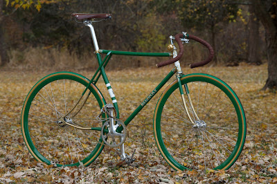 Green Fixed Gear Bike