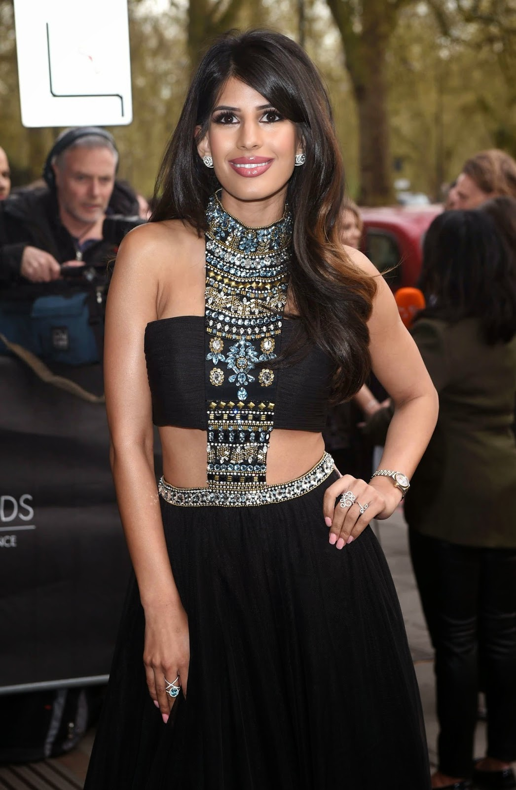 Television Personality, Singer, Actress @ Jasmin Walia at Asian Awards 2015 in London