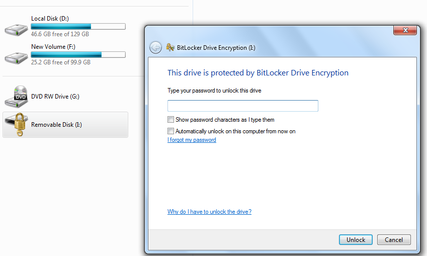 how to remove bitlocker from pen drive