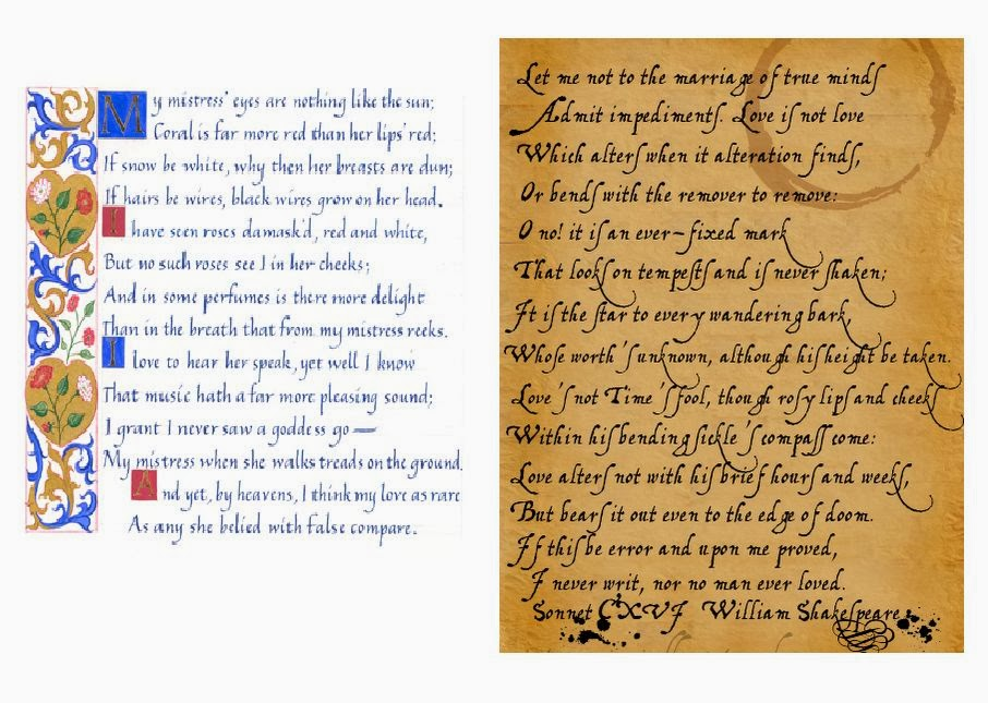 sonnet 116 and 130 comparison