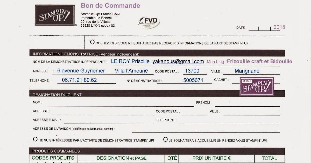Frizouille craft bidouille bon de commande 2015 imprimable for Comdemande de catalogue gratuit