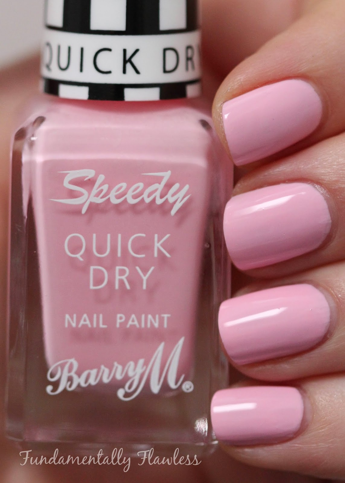 Barry M Kiss Me Quick speedy dry swatch - pastel pink