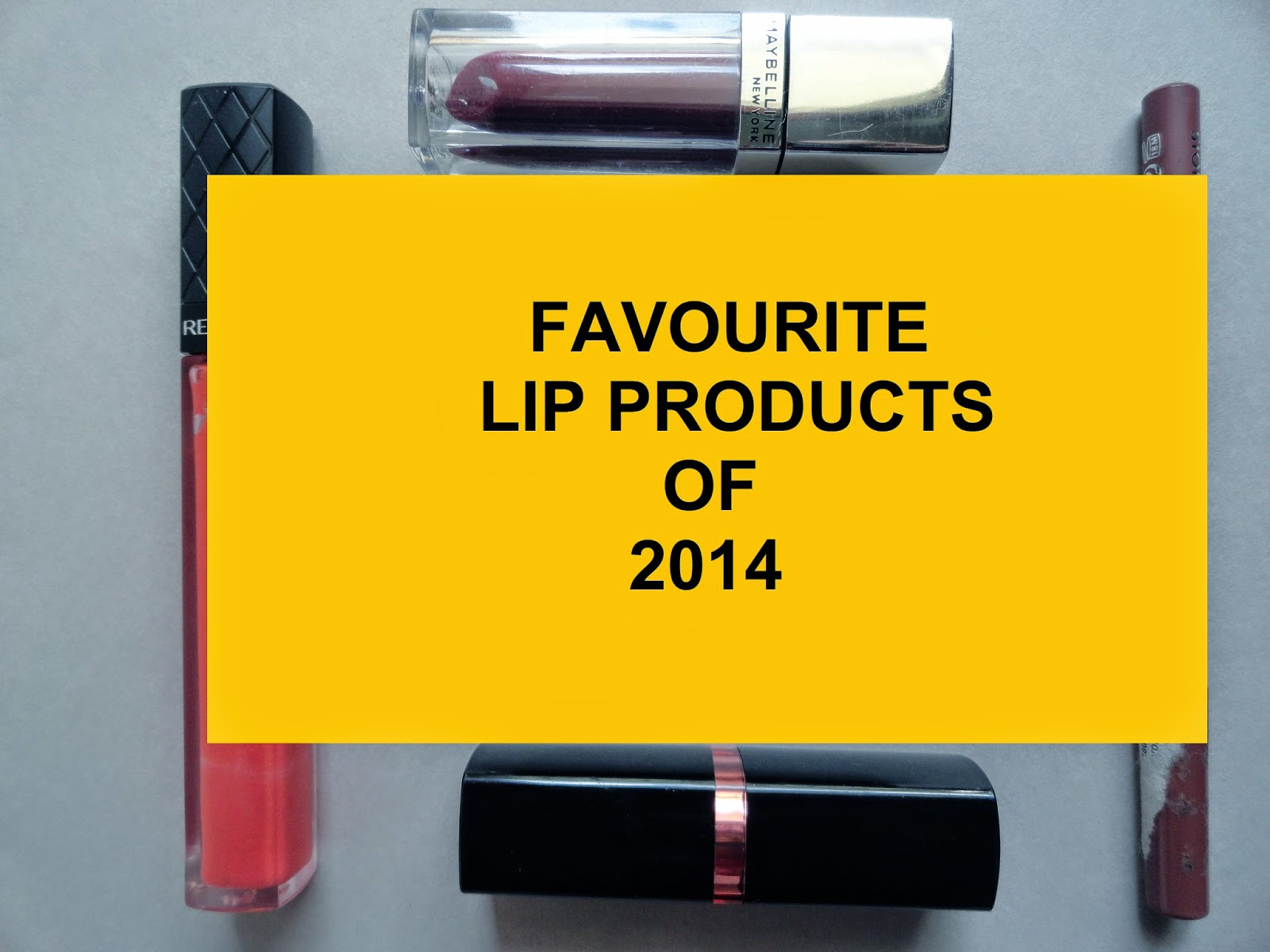 My favourite lip products in 2014 + Inventory image