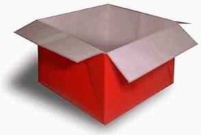Hướng dẫn cách gấp hộp giấy có nắp đậy đơn giản - Xếp hình Origami với Video clip - How to make a Box
