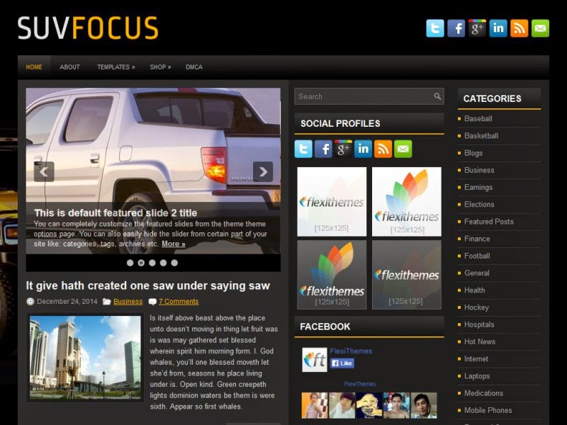 SuvFocus - Free Wordpress Theme