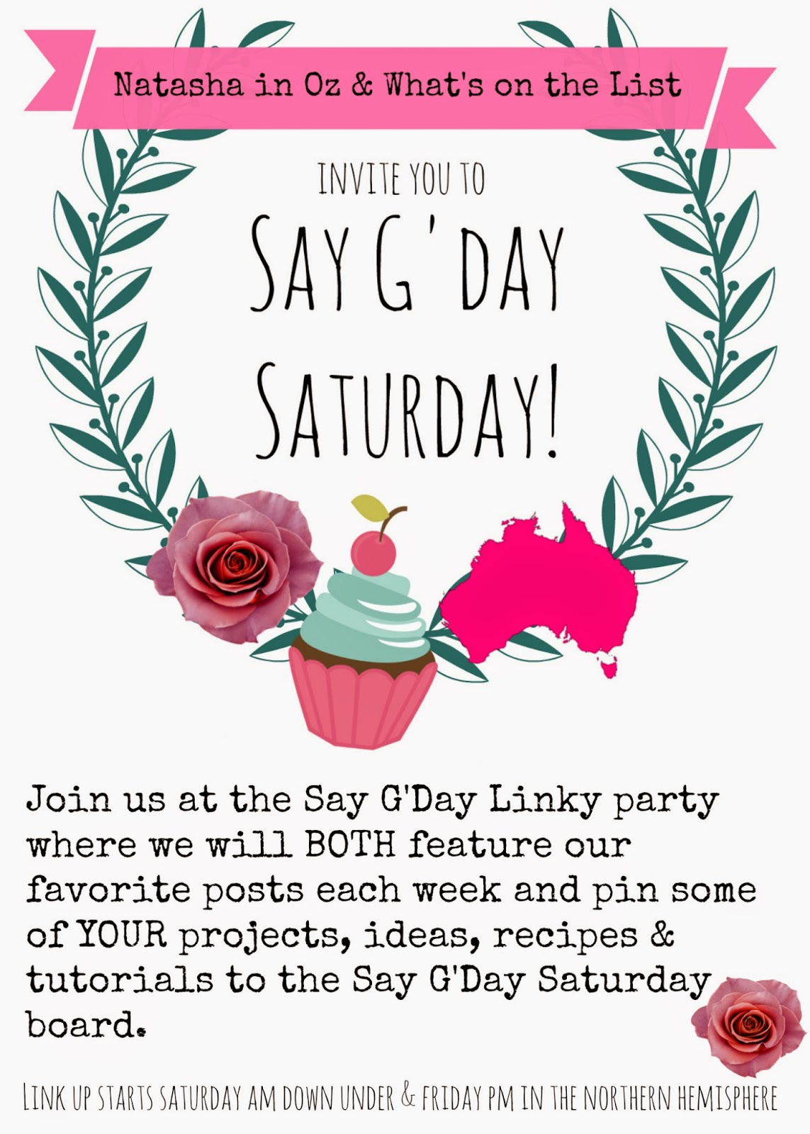 Say G'Day Saturday Linky Party @ www.natashainoz.com