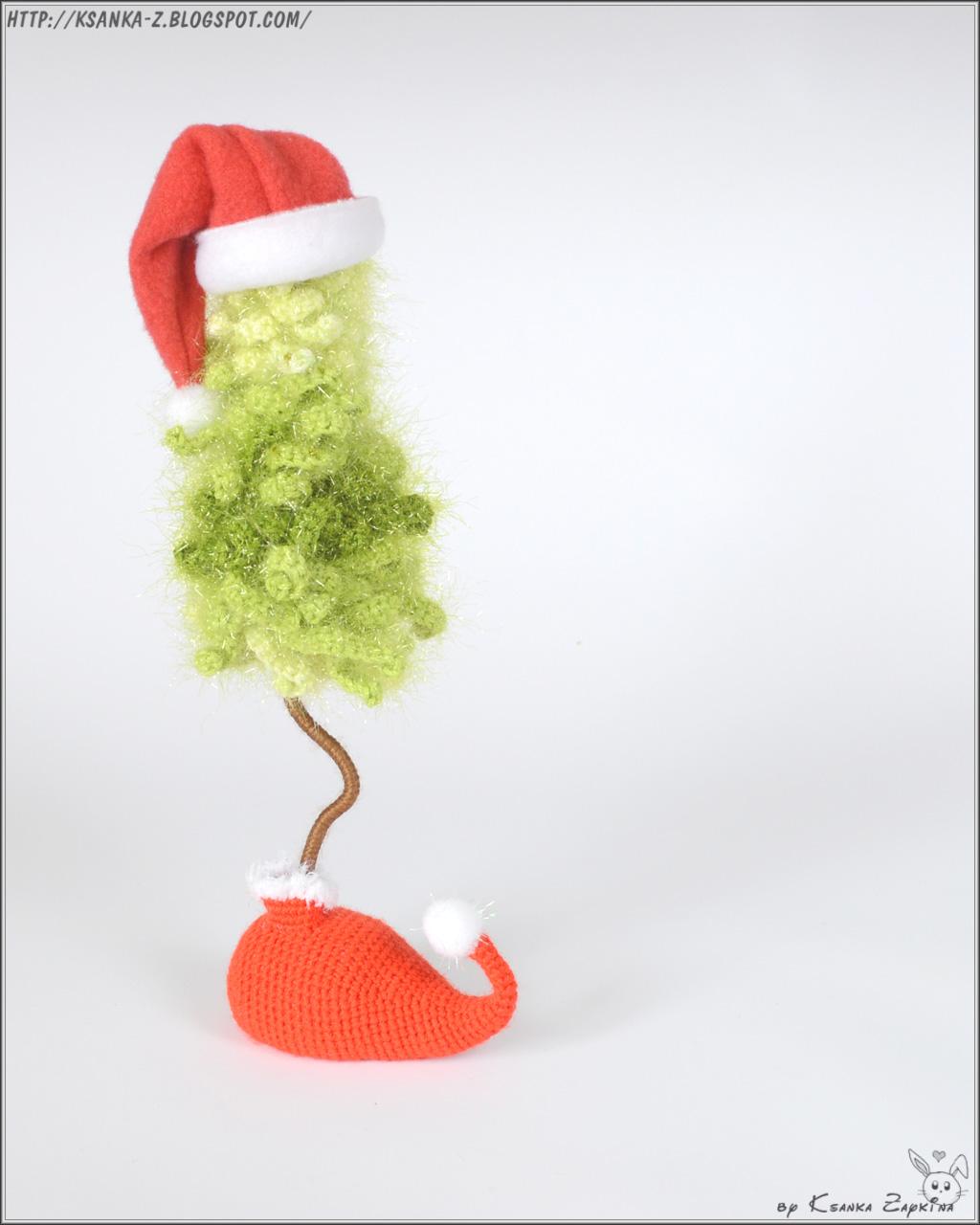 вязаная елка, елка крючком, амигуруми, игрушки ручной работы, игрушки крючком