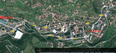 Mapa de google para llegar a la Exposición de Grucomi