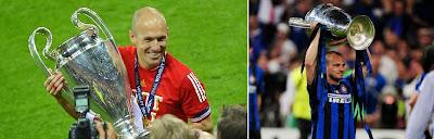 Arjen Robben and Wesley Sneijder