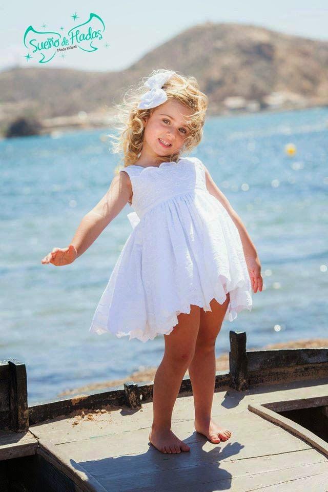 vestido blanco niña ibicenco - La Amapola
