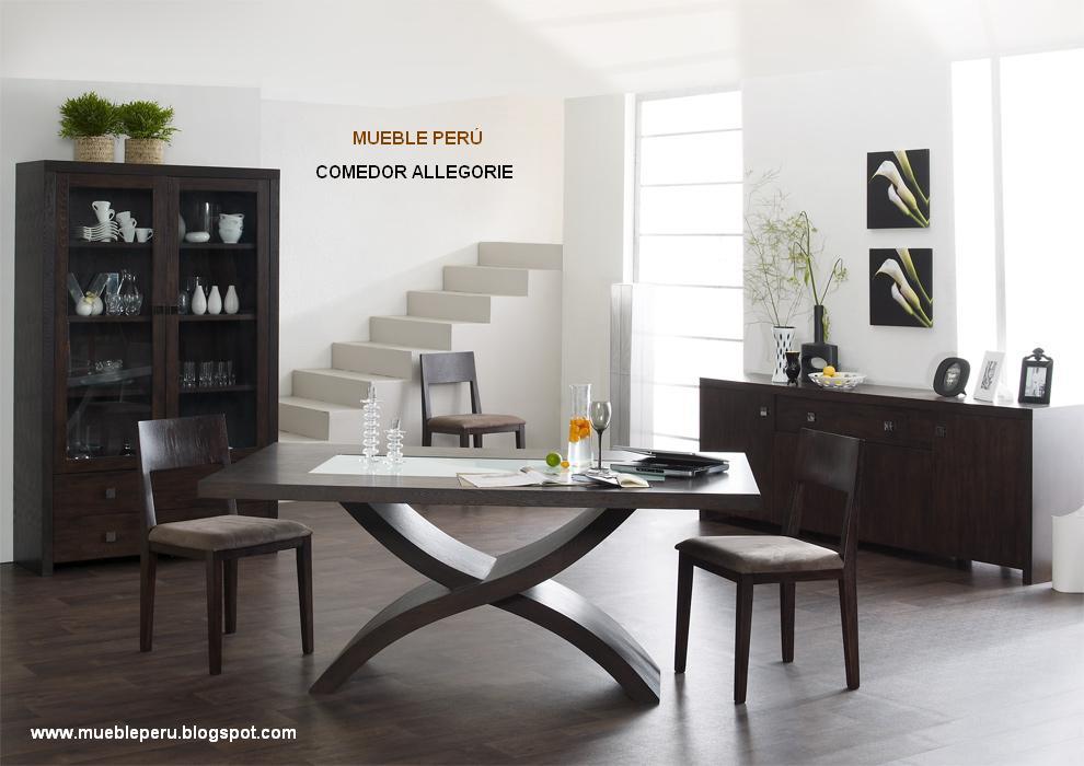 Comedores muebles per comedores elegantes for Muebles de madera peru