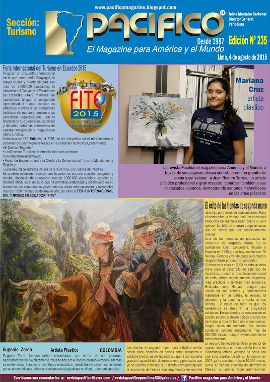revista Pacífico Nº 235 Turismo