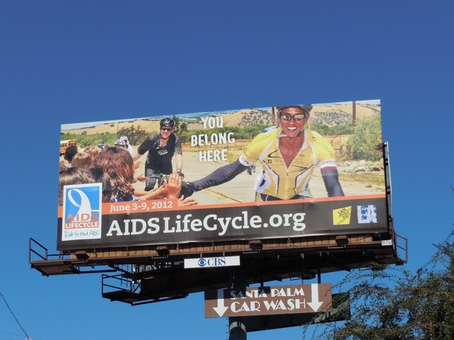 AIDS Lifecycle billboard