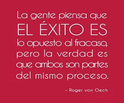 Roger Van Oech La gente piensa que el éxito es lo opuesto al fracaso