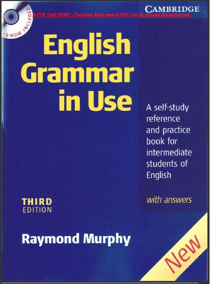 English Grammar In Use Intermediate Raymond Murphy [ 3rd
