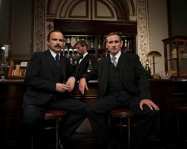 Lucan, ITV: RORY KINNEAR s Lord Lucan and CHRISTOPHER ECCLESTON as John Aspinall.