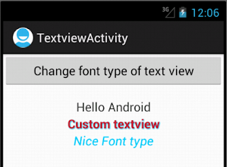 Android Custom TextView - Figure 1