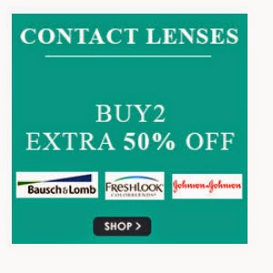 Snapdeal: Buy Contact Lenses upto 52% off and Buy 2 get 50% off and 5% off