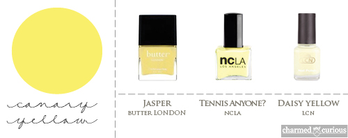 butter LONDON Jasper, NCLA Tennis Anyone?, LCN Daisy Yellow