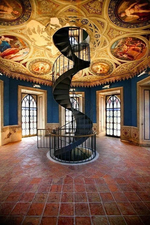 spiral stairs design in Umbria, Italy