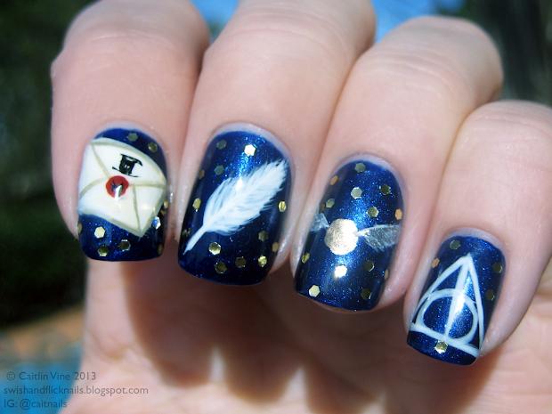 muggle manicures nail art harry
