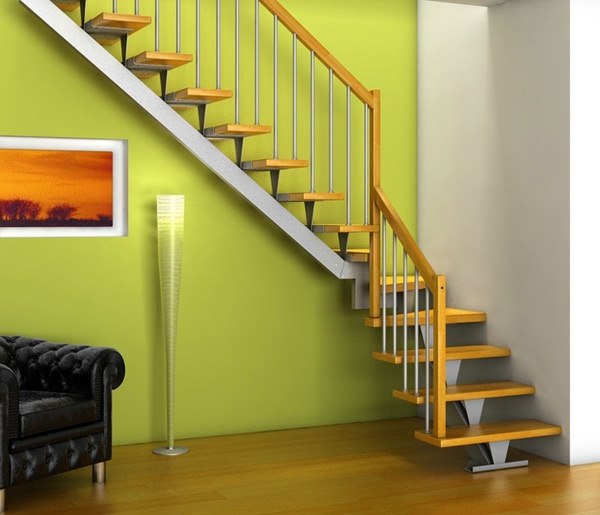 Escaleras de interiores ideas para decorar dise ar y for Casas con escaleras en la sala